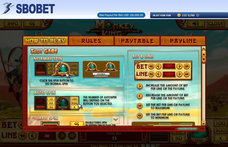 CARA MAIN MONKEY KING SLOT GAME SBOBET_1